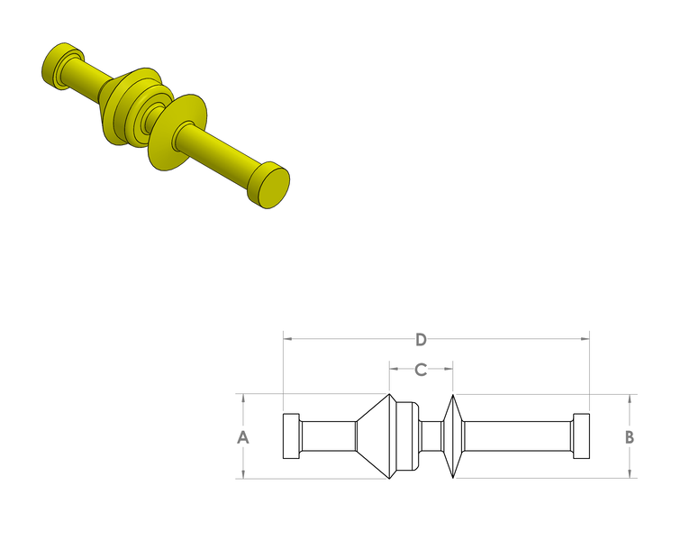 Silicone Dual Washer Pull Plug CAD Drawing