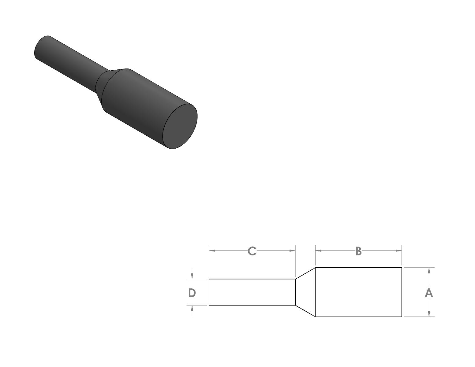 "EPDM Pull Plug 0.067"" x 0.625"" CAD Drawing"
