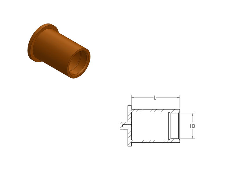 Oversized Silicone Caps CAD Drawing