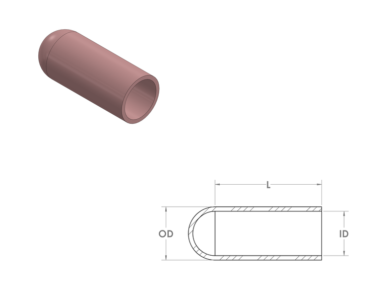 Silicone Caps CAD Drawing