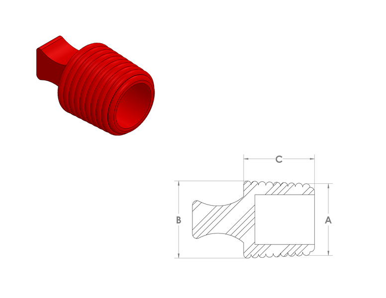 Silicone Flangeless Plugs CAD Drawing