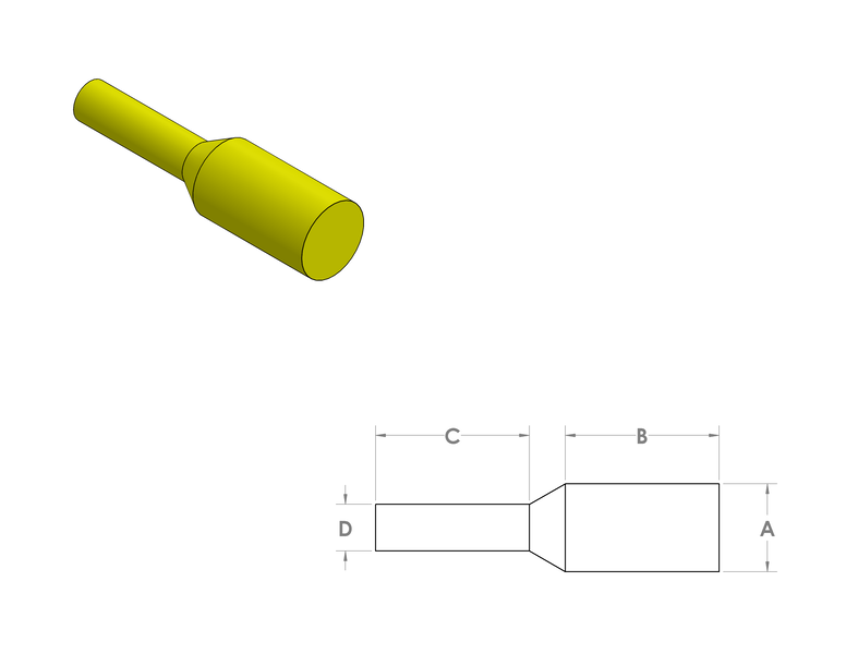 Silicone Pull Plugs CAD Drawing