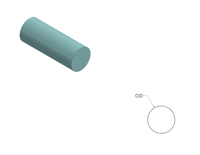 Silicone Sponge Cord CAD Drawing