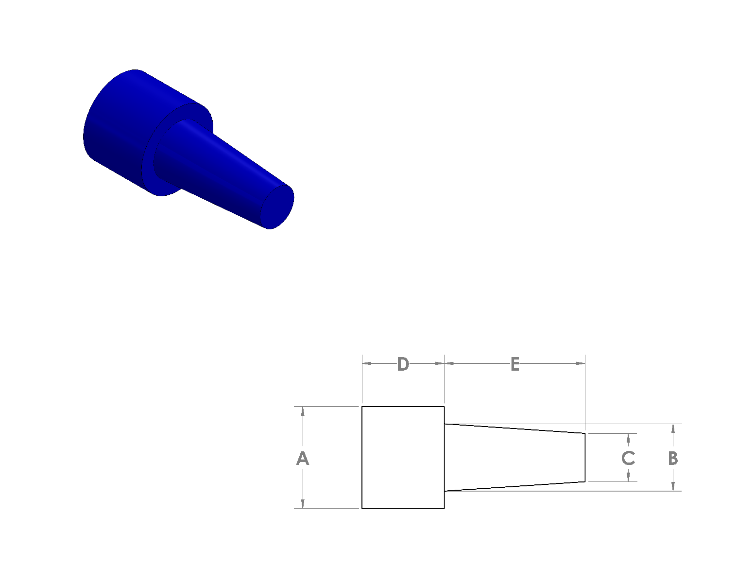 Silicone Step Plugs CAD Drawing
