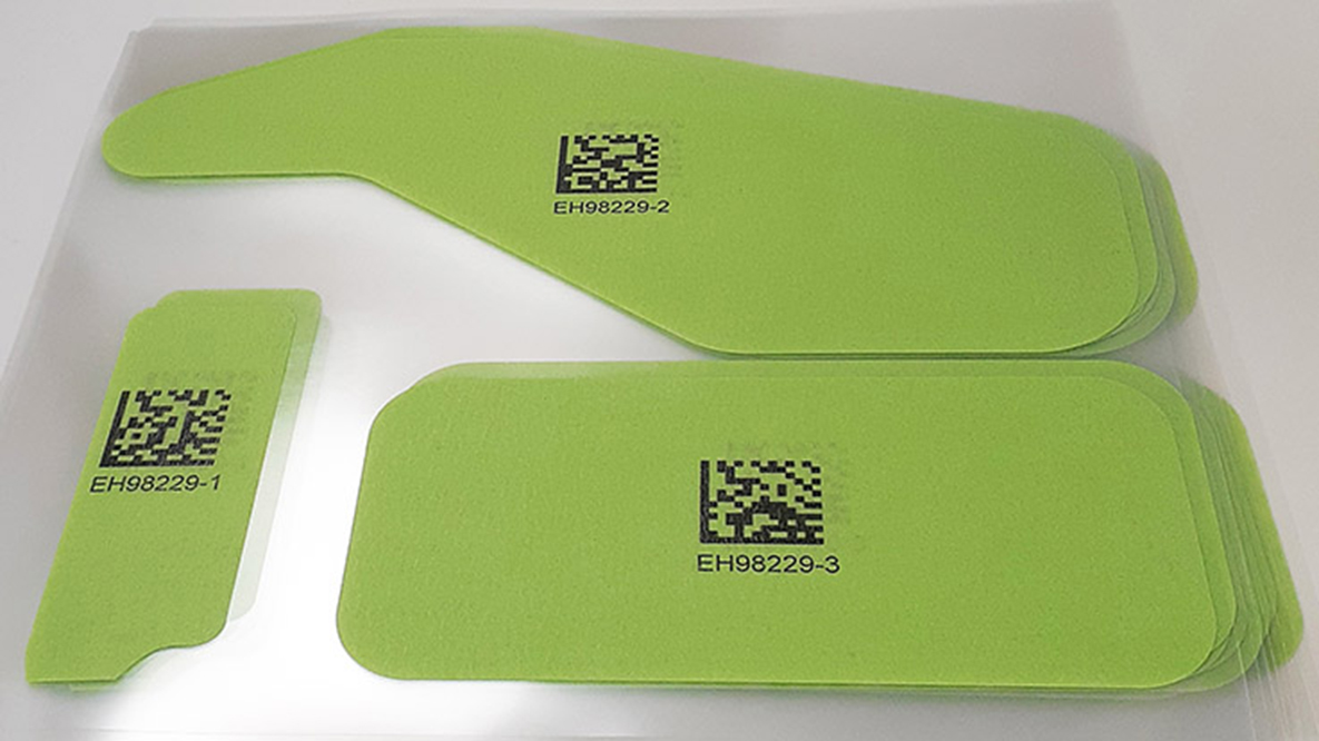 Variable Data Printing on Die Cuts for Traceability